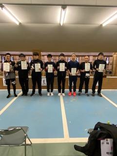 全国入賞者8人。左から3番目が杉本君。5番目が戸田君。